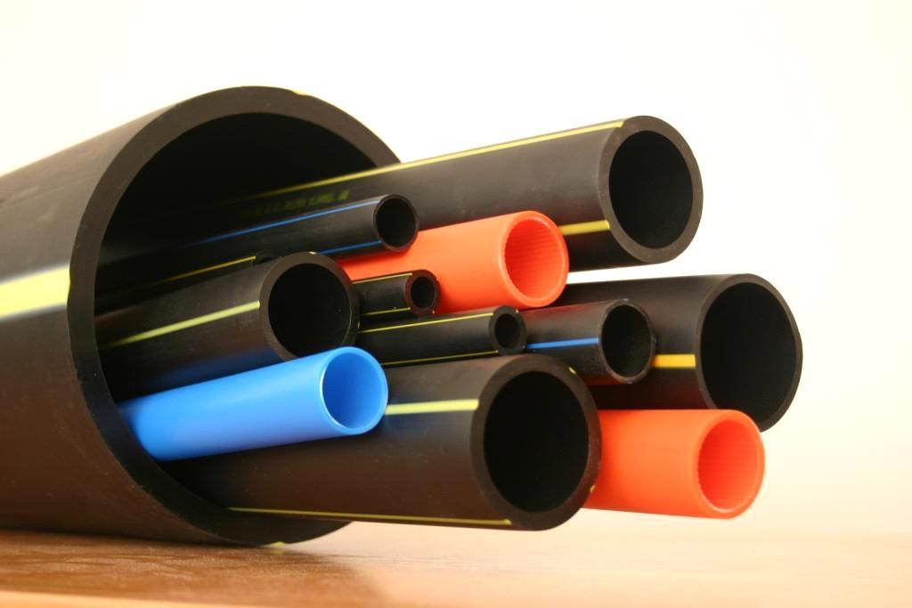 Dwc double wall corrugated hdpe pipes 40mm 600mm size for Types of plastic pipes
