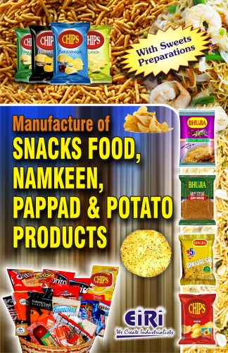 Project Reports on Manufacture Of SNACKS FOOD, NAMKEEN, PAPPAD AND POTATO PRODUCTS, Technology Handbooks on Manufacture Of SNACKS FOOD, NAMKEEN, PAPPAD AND POTATO PRODUCTS